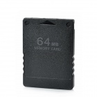 64MB Memory Card for PS2 - Black