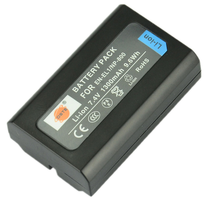 DSTE EN-EL1/NP800 Replacement 7.4V 1300mAh Battery for Konica Minolta / Nikon - Black