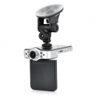 "CUBOT X8L Dual-Lens 2.4"" TFT 5.0MP Wide Angle Car DVR Camcorder w/ GPS + G-Sensor + 4-IR LED - Black"