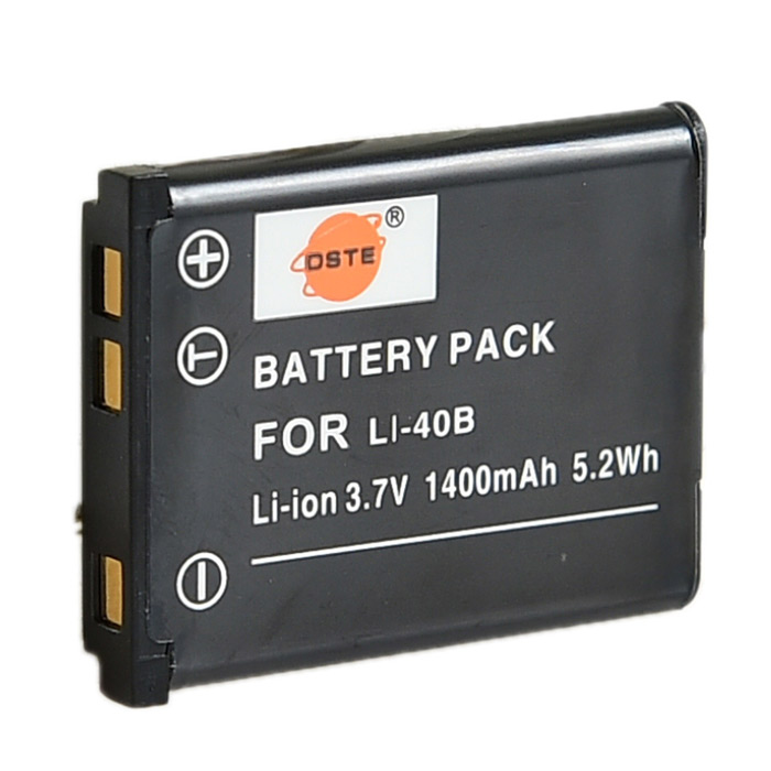 DSTE Olympus LI-40B/42B Replacement 3.7V 1100mAh Battery for Nikon / Olympus / Pentax - Black