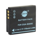 DSTE S005E Replacement 3.7V 1750mAh Battery for Panasonic / Ricoh / Fujifilm / Leica - Black