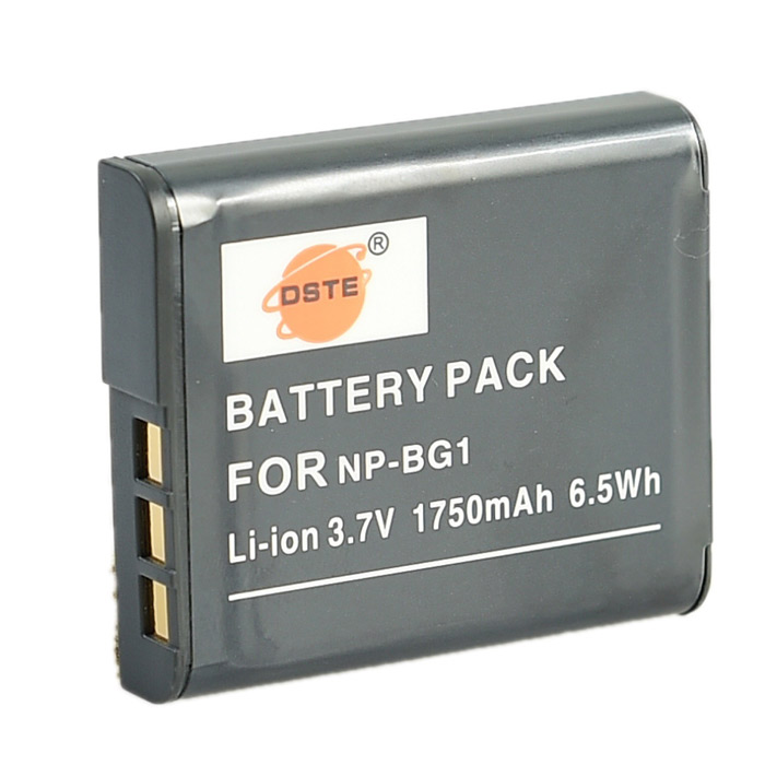 DSTE NP-BG1 Replacement 3.7V 1750mAh Battery for Sony Cyber-shot DSC-H20 / DSC-H3 / DSC-H7 + More 3pcs lot np bn1 np bn1 npbn1 800mah camera battery for sony cyber shot dsc s750 dsc s780 w630 tx5 w310 t99 z1
