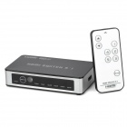 HSW0501BN Remote Controlled HDMI Switcher - Black + Silver (5-In / 1-Out)