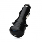 L-C610 Car Cigarette Lighter Charger for Iphone / Cellphone / Tablet PC + More - Black (DC 12~24V)