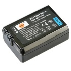 DSTE NP-FW50 1950mAh Battery Pack for Sony NEX-5 NEX-6 NEX-7 - Black