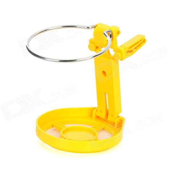 YB001 Multi-Function Adjustable Car Water Cup / Bottle Holder - Yellow