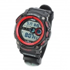 Sports Diving Wrist Watch w/ EL Backlit / Compass / Stopwatch / Alarm - Black + Red (1 x CR2025)