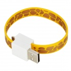 Bracelet Style 8 Pin Lightning Male to USB Male Magnetic Data / Charging Cable - Yellow (18cm)
