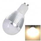 L20121226-3 GU10 3W 300lm 3500K 6-SMD 5630 LED Warm White Light Lamp - Silver + White