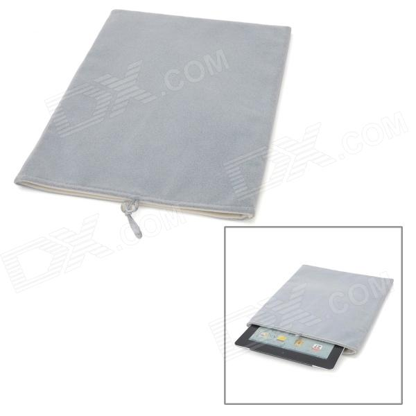 "Protective Lint Sleeves Case for 9.7"" Ipad 2 / New Ipad / Tablet PC - Grey (Size XL)"