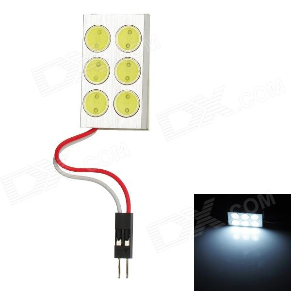 LY180 T10 BA9S Festoon 6W 6000K 360lm 6-LED White Reading / Dome Lamp (DC 12V) s quire s quire ly b9 3