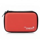 Protective Artificial Leather Hard Pouch for Nintendo DSi / DSL - Red