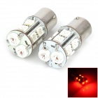 Point Purple D1112R 1156 5W 80lm 2-LED + 10-5050 SMD LED Red Light Car Brake / Rear Fog-Proof Lamp