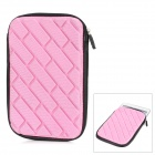 "Universal Water Resistant Protective Zippered Sponge Sleeve Bag for 7"" Tablet PCs - Pink"