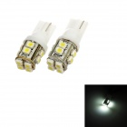 T10 1W 84lm 6000K 12-SMD 1210 LED White Light Car Clearance Lamps - (DC 12V / 2 PCS)