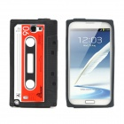 Protective Silicone Back Case for Samsung Galaxy Note II N7100 - Black + Red