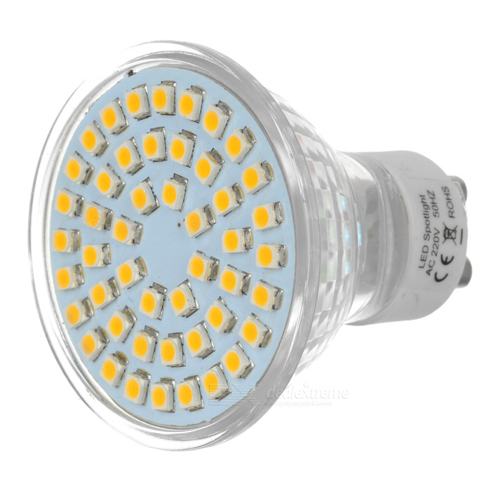 GU10 2.8W 300lm 3500K 48-3528 SMD LED Warm White Lamp Bulb (220V)