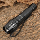 Smiling Shark SS-E4 Cree XM-L T6 350lm 3-Mode White Zooming Flashlight - Black (1 x 18650 / 3 x AAA)