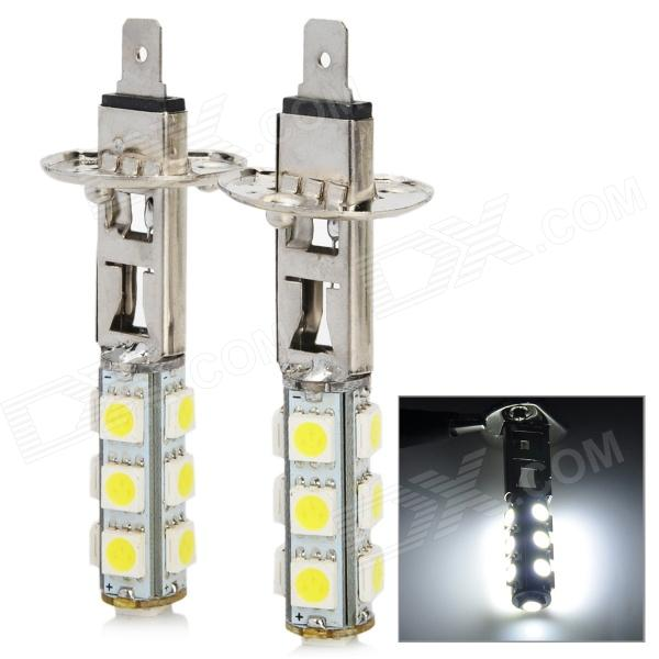 H1 2W 156lm 13-SMD 5050 LED White Light Car Foglight (DC 12V / 2 PCS) h1 4w 220lm 68 smd 1210 led warm white light car foglight headlamp tail light 12v
