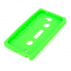 Protective Silicone Back Case for Samsung Galaxy Note II N7100 - Green + Dark Blue