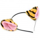 Bonito Cosplay Holiday Party Tiger Ears Headband - Amarelo + Black + Pink