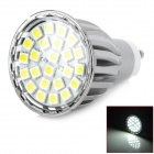 GU10 4.5W 380lm 6500K 24-SMD 5050 LED White Light Bulb - White (AC 175 ~ 265V)