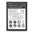 3.7V 3500mAh Battery for Samsung Galaxy Note 2 N7100 - Black