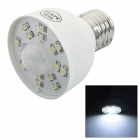 E27 1.6W 160lm 7000K Motion Activated Sensor White 15-SMD 3528 LED Light Bulb - White (85~260V)