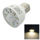 E27 1.6W 160lm 3500K Motion Activated Sensor Warm White 15-SMD 3528 LED Light Bulb - White (85~260V)