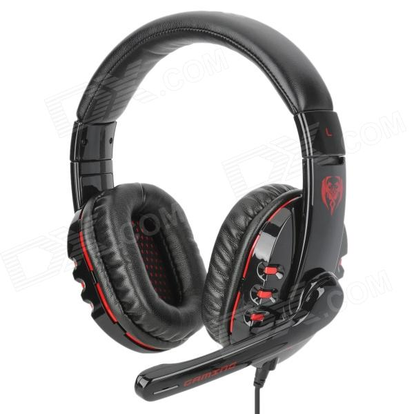 Somic G927 Fashionable Gaming Headphones w/ Microphone - Black + Red (USB Plug / 220cm)