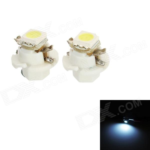 B8.4 0.18W 16lm 1-SMD 5050 LED Cold White Light Car Instrument / Indicator Light (2 PCS / DC 12V)
