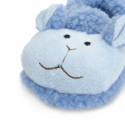 0209 Cute Cartoon Sheep Style Baby Anti-Slip Cotton + Polyester Shoes - Blue (Pair / 10cm)
