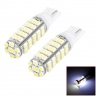 T10 6.8W 6000K 256lm 68-SMD 1206 LED White Light Width Lamp Bulbs (DC 12V / 2 PCS)