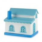 ZhenXin YH5845 Cute House Shape ABS Automatic Toothpick Holder - Blue