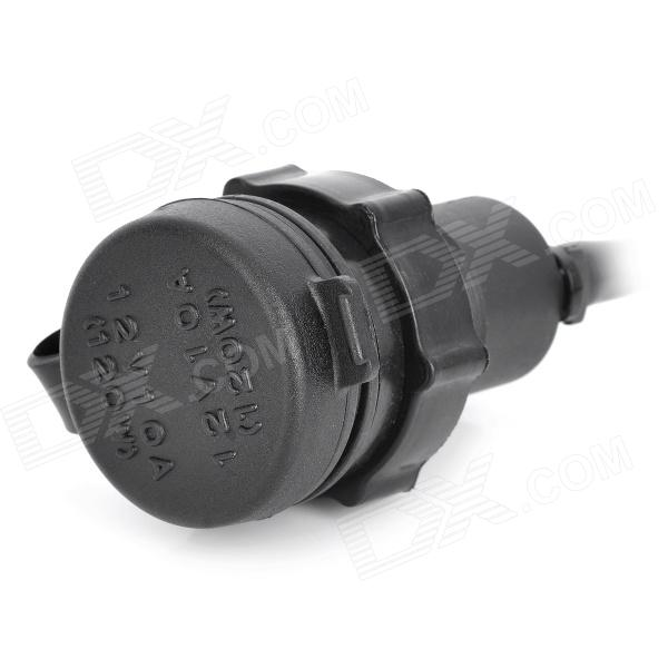 20626 DIY Cigarette Lighter Socket w/ Fuse for Vehicle / Motorcycle - Black (DC 12V / 54cm-Cable)