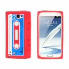 Protective Silicone Back Case for Samsung Galaxy Note II N7100 - Red + Dark Blue