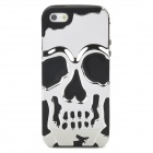Detachable Skull Style Protective Back Case for iPhone 5 - Silver + Black
