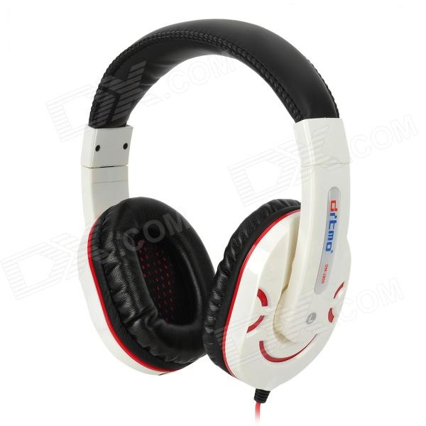 Ditmo DM-2800 Stylish Stereo Headphones - White + Black + Red (3.5mm Plug / 112cm) 1more super bass headphones black and red