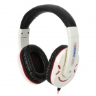 Ditmo DM-2800 Stylish Stereo Headphones - White + Black + Red (3.5mm Plug / 112cm)
