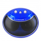 Gucee X8 Smile Face Mini Wireless Bluetooth V2.1 3W Speaker - Deep Blue + Black + Silver
