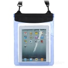 YF320-250-2 Waterproof PVC Bag Case w/ Strap for Ipad / Ipad2 / The New Ipad / Ipad 4 - Blue