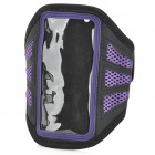 YC0129 Sporty Adjustable Armband for Iphone 5 - Black + Purple
