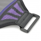 YC0129 Brazalete deportivo ajustable para Iphone 5 - Negro + Purple
