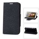Protective PU + Plastic Case for Samsung N7100 - Black