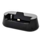 Stylish Charging Docking Station w/ 8-Pin Lightning + Audio Port for iPhone 5 - Black