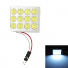 T10 / BA9S / Two Cone Ends 12W 720lm 6000K 12-LED White Light Car Reading Lamp - (DC 12V)