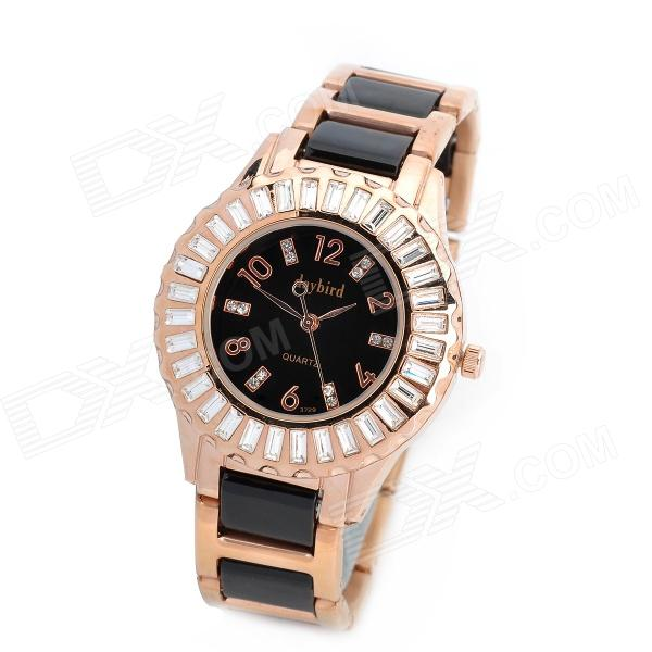 Daybird 3729 Ceramic Band Quartz Women's Wrist Watch w/ Crystal- Golden (1 x LR626)