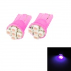 T10 0.25W 40lm 5-SMD 1210 LED Pink Light Car Steering Lights - Pink (2 PCS / DC 12V)