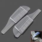 Universal Auto Car Rear View Mirror Rainproof Blade w/ Outlet - Transparent (2 PCS)