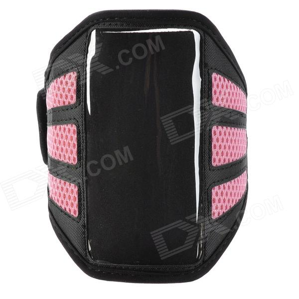 YC0126 Outdoor Sport Armband for Iphone 5 - Black + Pink